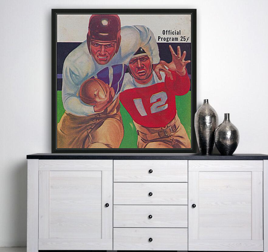 Vintage Football Framed Program Cover Art Posters (1937)  Art