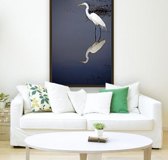 White Egret Reflection  Art