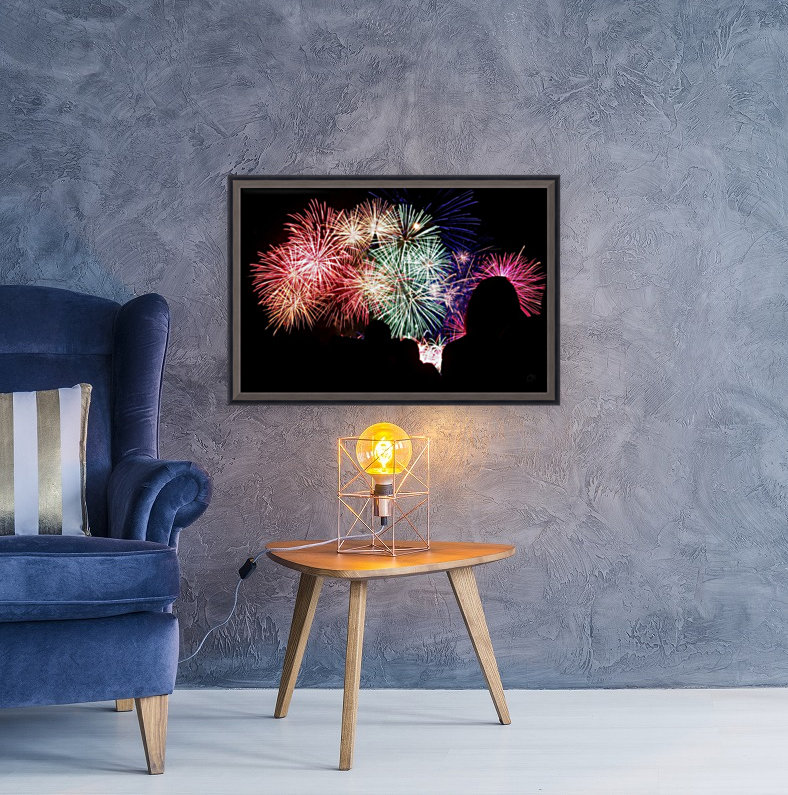 Fireworks with Floating Frame