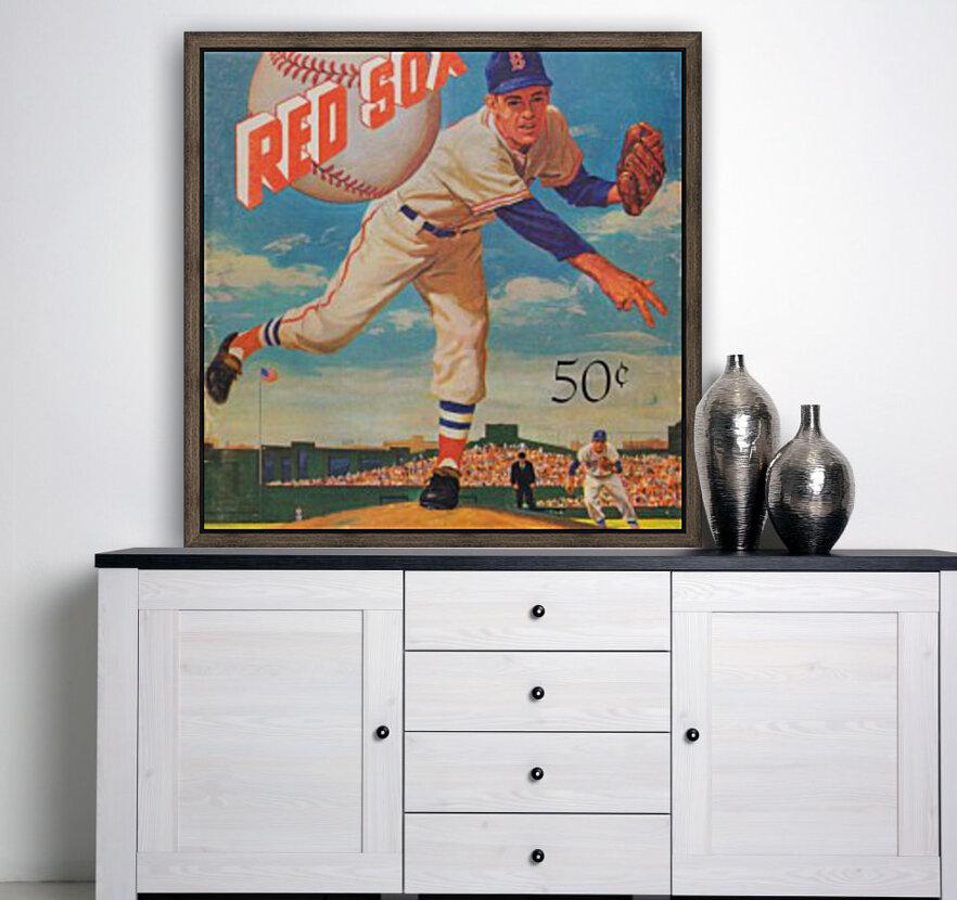 1959_Boston Red Sox_Baseball Yearbook_Poster_Vintage Baseball Art Print Reproductions  Art