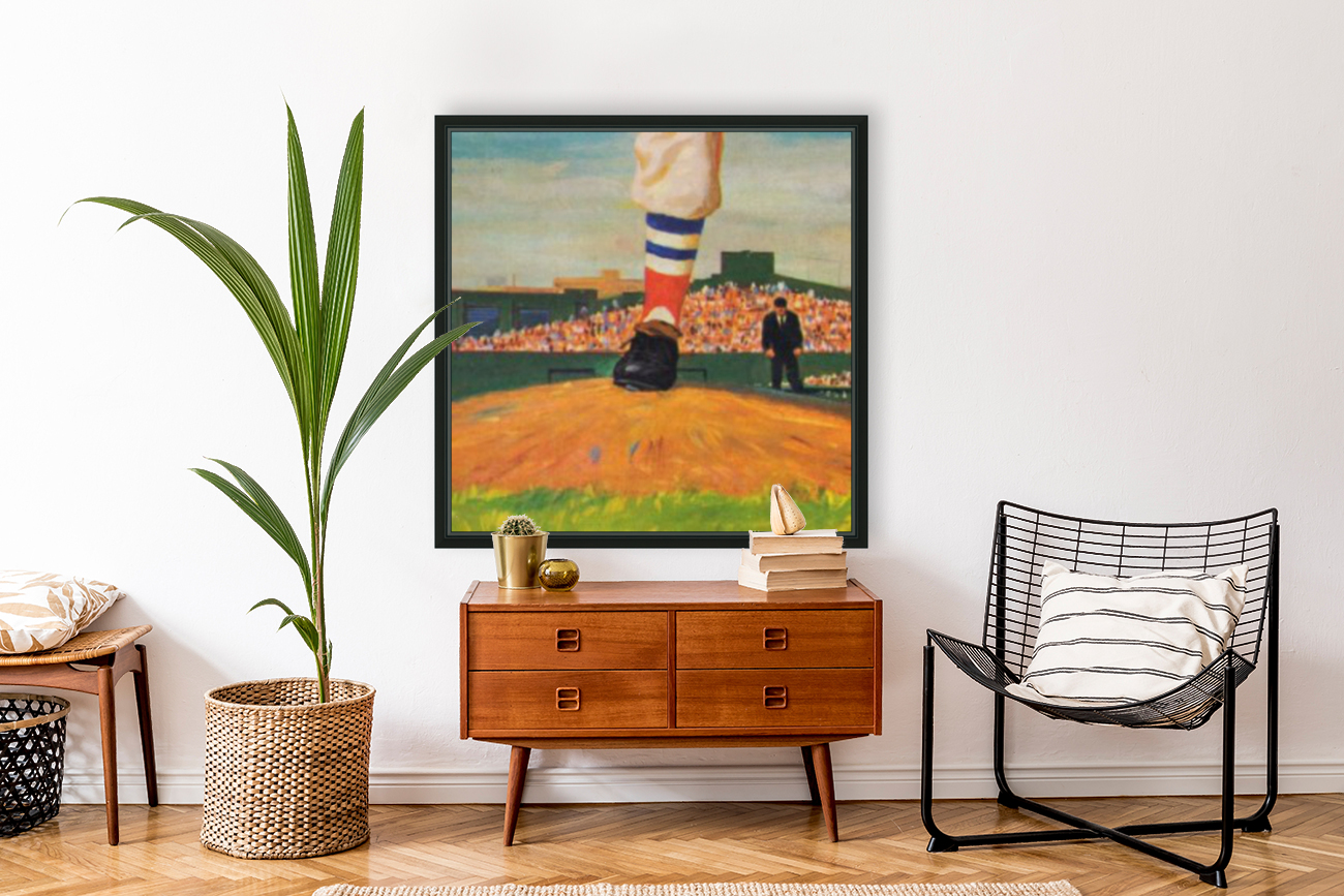The Mound_Vintage Red Sox Baseball Art_Row One Brand  Art