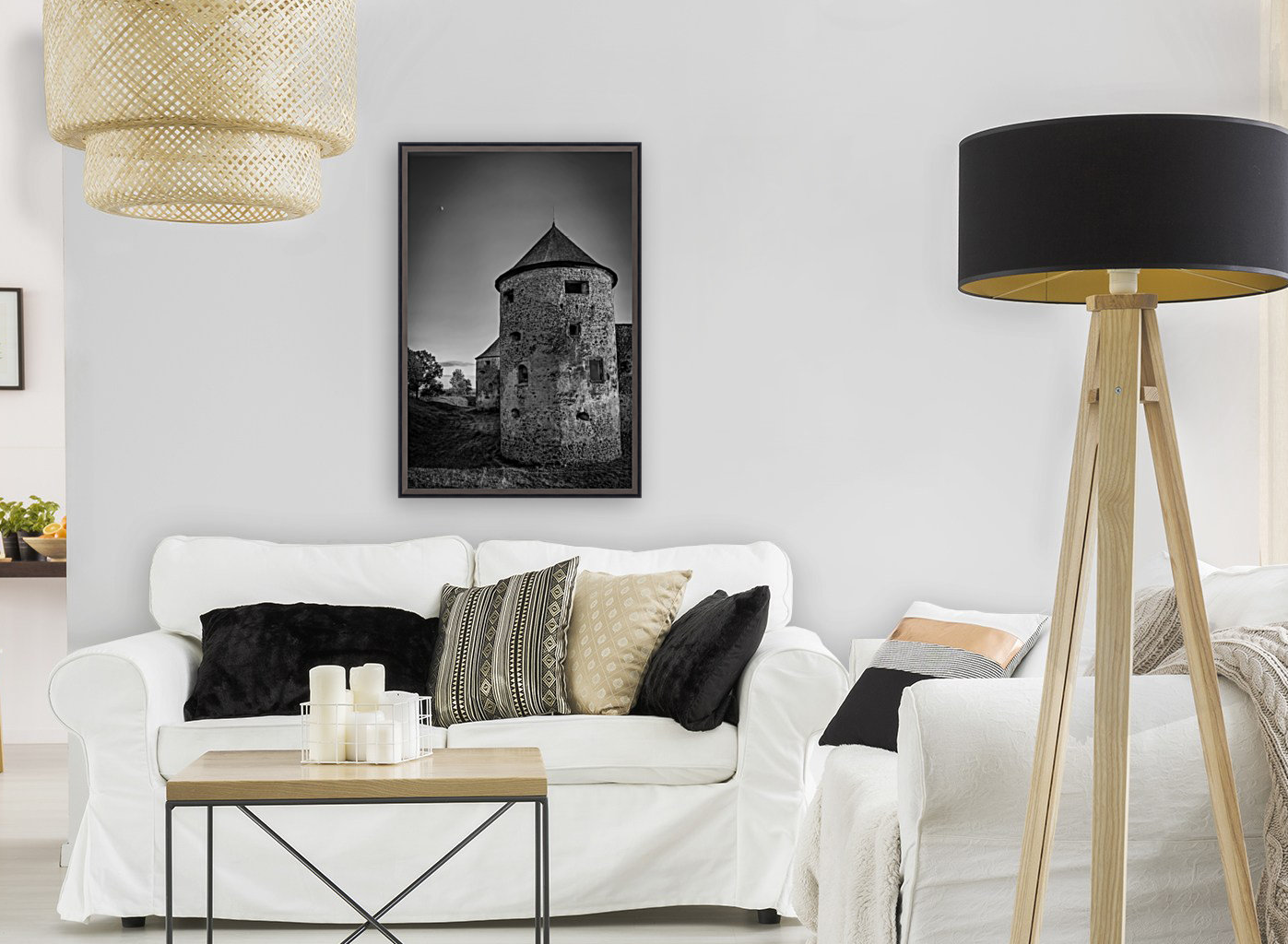 Old castle tower  Art