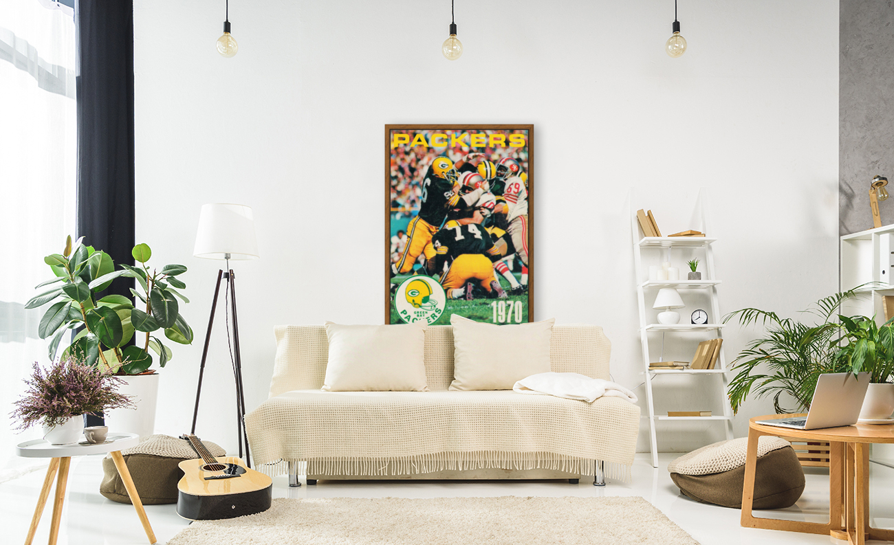 Green Bay Packers Football Poster Row One Brand Sports Art  Art