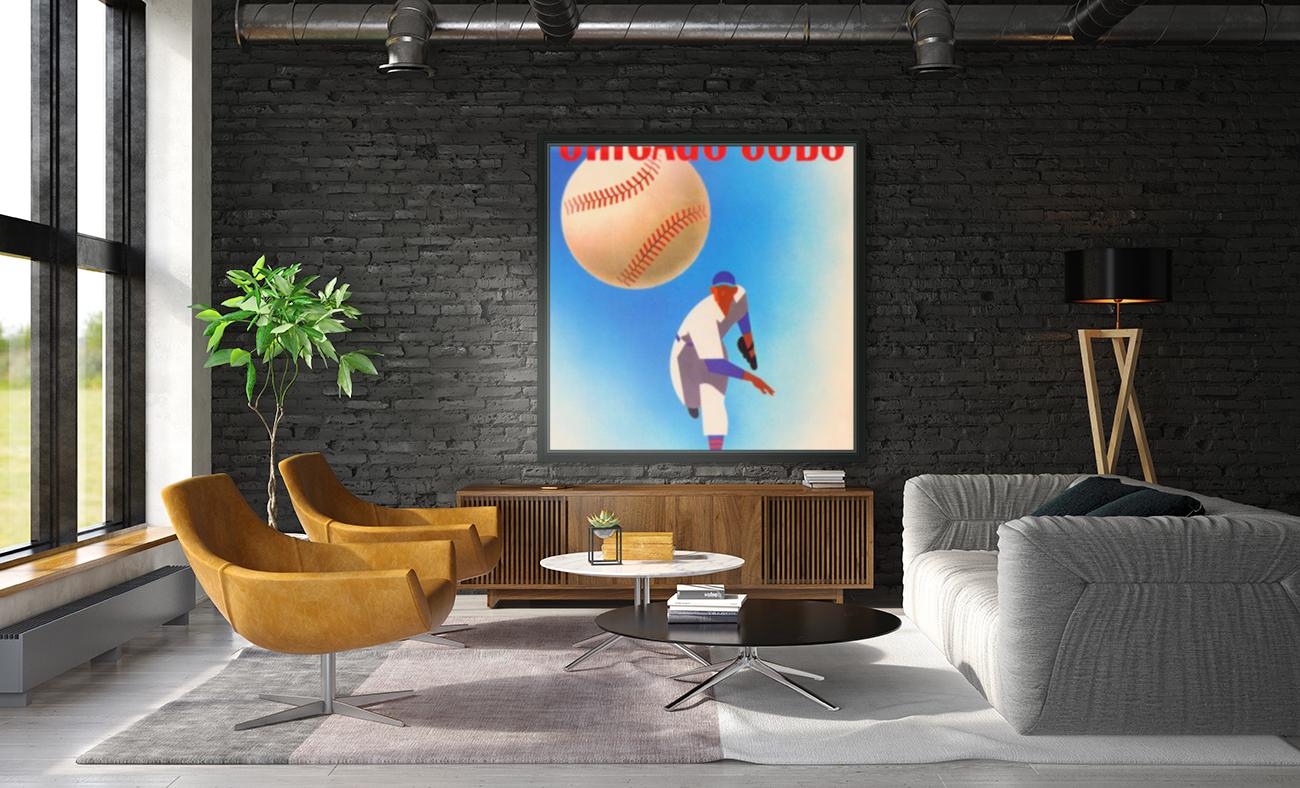 Otis Shepard Remix_Public Domain Sports Art Remixes_Chicago Cubs Poster by Row One  Art