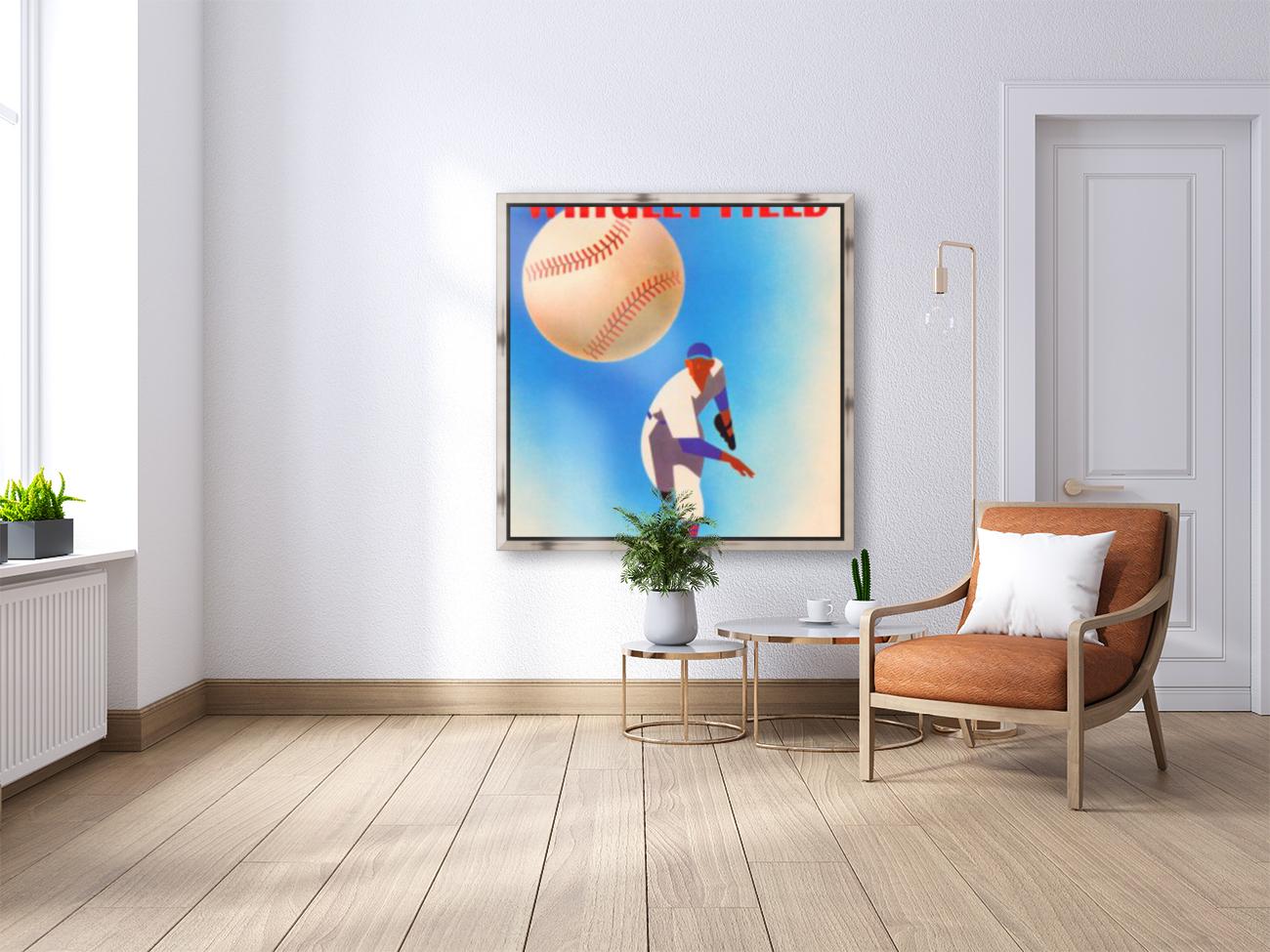 Row One Brand Wrigley Field Art Remixes_Public Domain Sports Art Remixes_Chicago Cubs Poster  Art