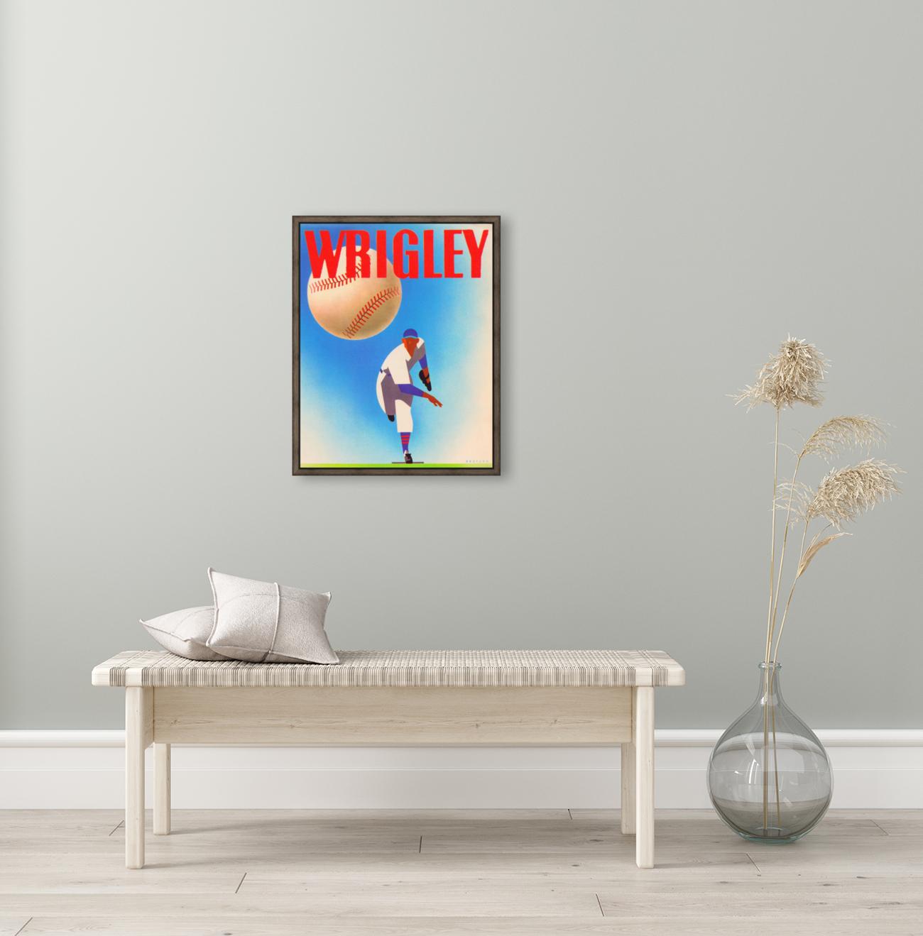 Row One Brand Sports Art Remixes_Public Domain Sports Art Remix_Chicago Cubs Wrigley Poster  Art