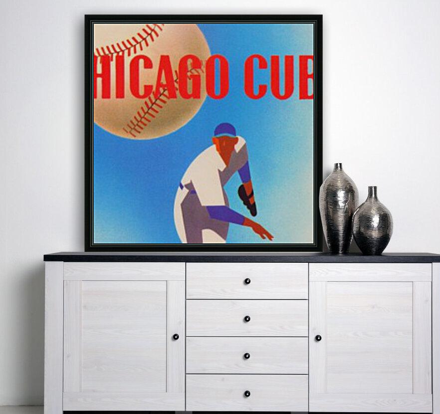 Sports Art Remixes_Public Domain Sports Art Creations_Chicago Cubs Poster (1950)  Art