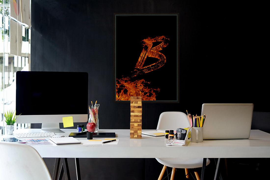 Burning on Fire Letter B  Art