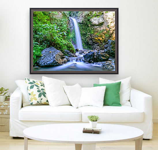 Waterfall in the forest  Art