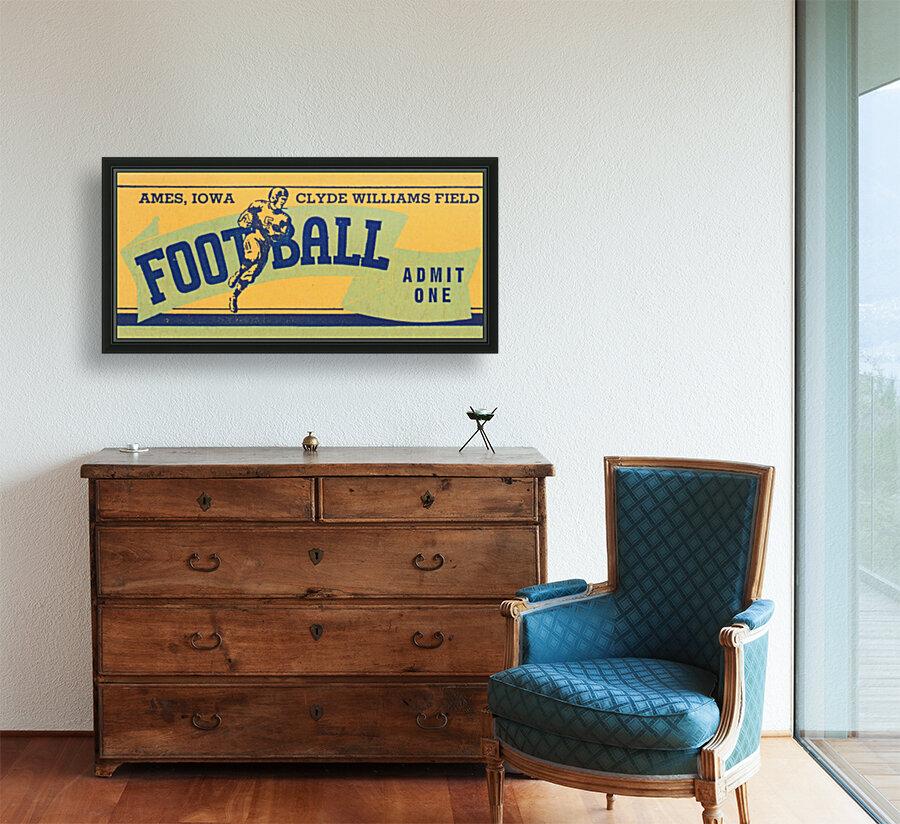 1939 Ames Football Admit One Ticket  Art