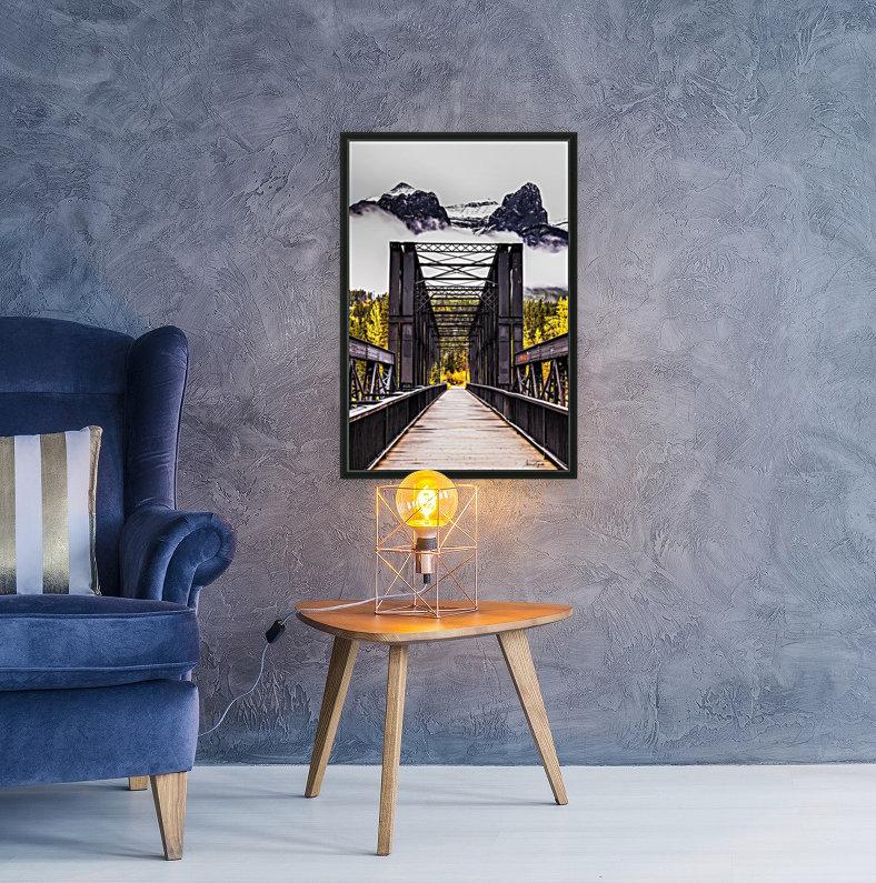 The Engine Bridge Canmore  Art