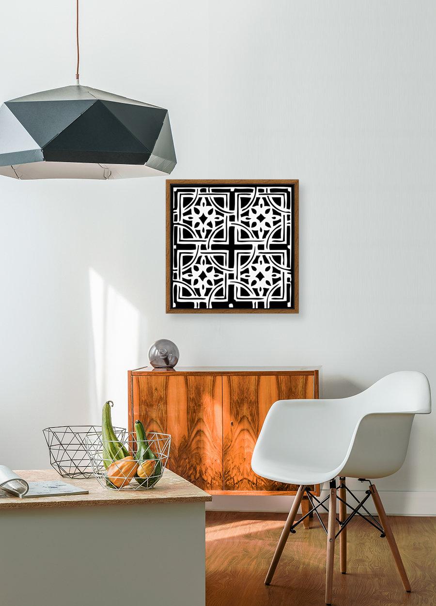 Blackandwhitegeometricgeometrypattern  Art