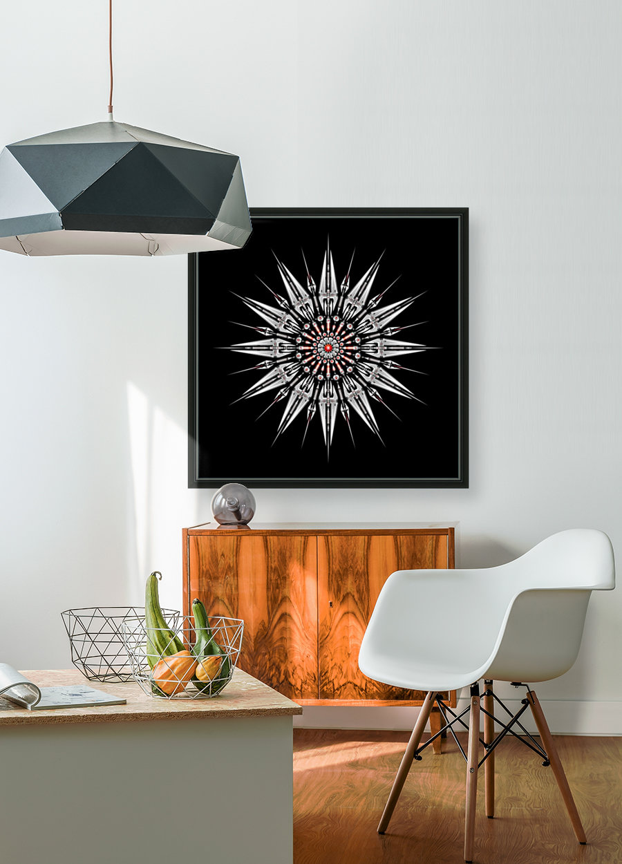Garnet Reactor Mandala  Art