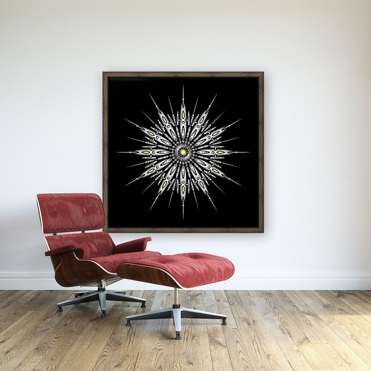 Zyrconium Collider Mandala with Floating Frame