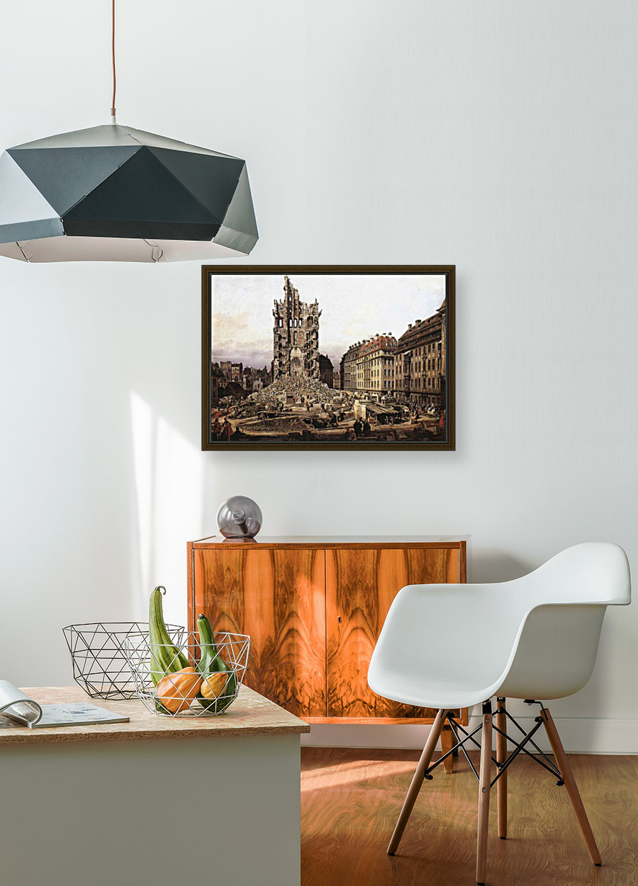 City ruins with Floating Frame
