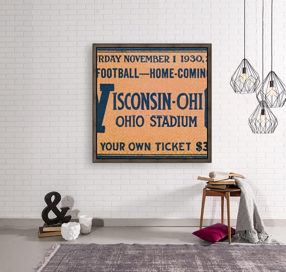 ticket stub metal sign osu buckeyes football vintage tickets wood prints  Art