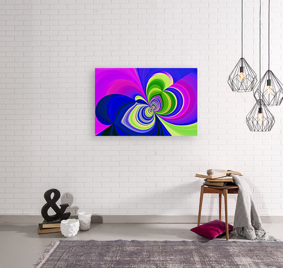PSYCHEDELIC BUTTERFLY 2 with Floating Frame