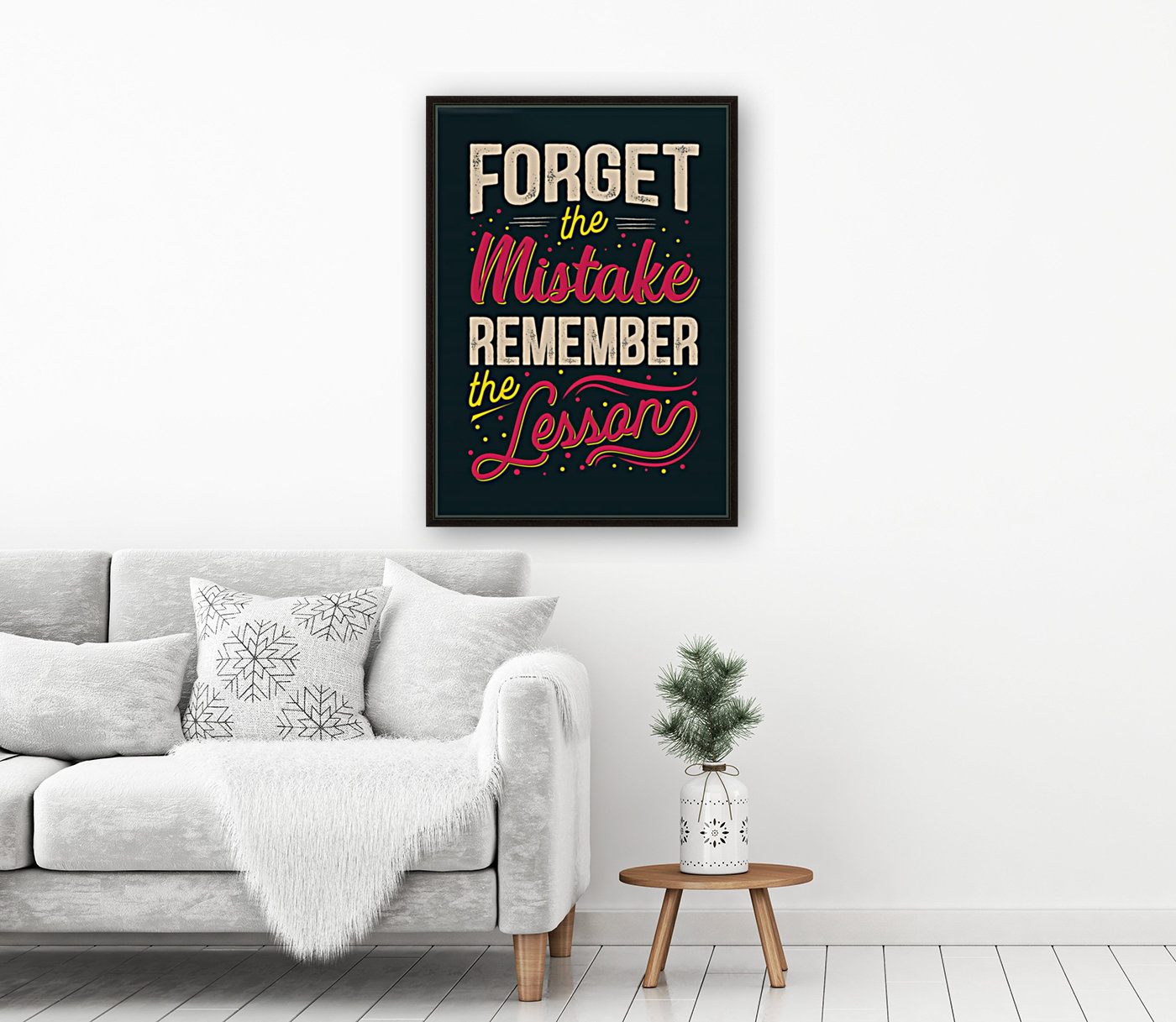 Best inspirational wisdom quotes life forget mistake remember lesson poster  Art