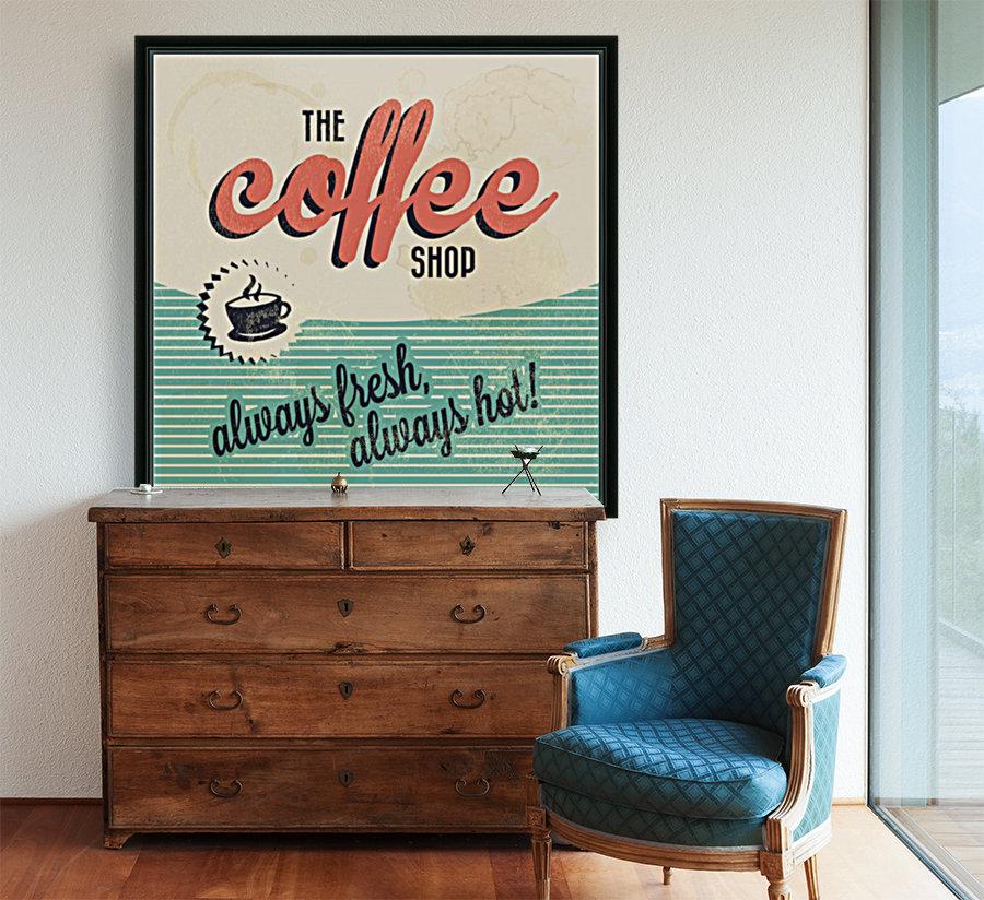 Coffe wallpaper grunge style always fresh always hot vintage retro poster  Art