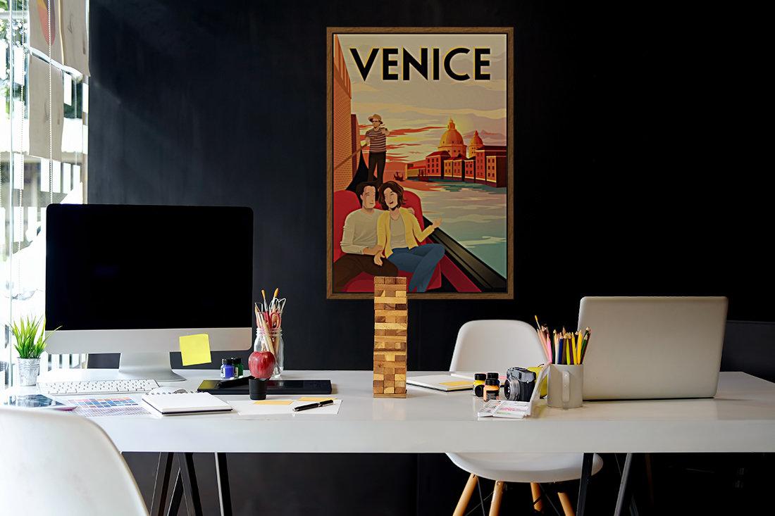 venice travel poster  Art