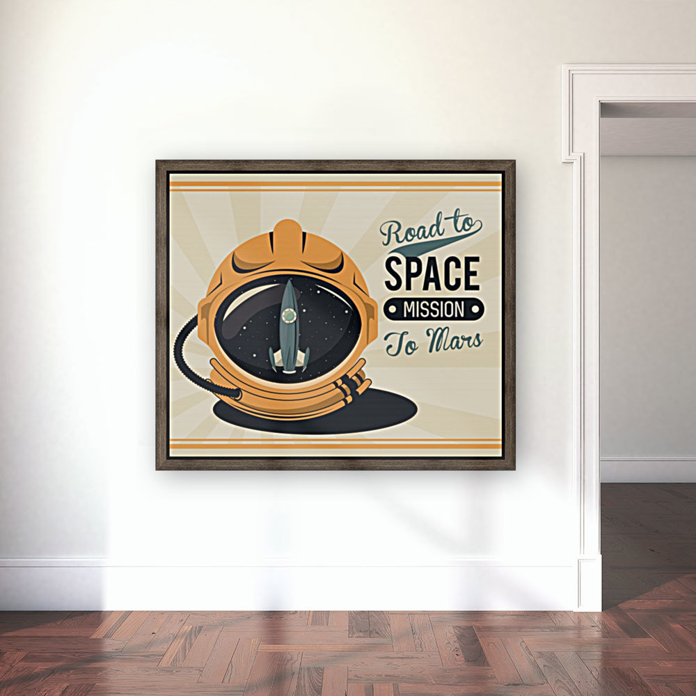 Life space vintage poster with set scenes  Art