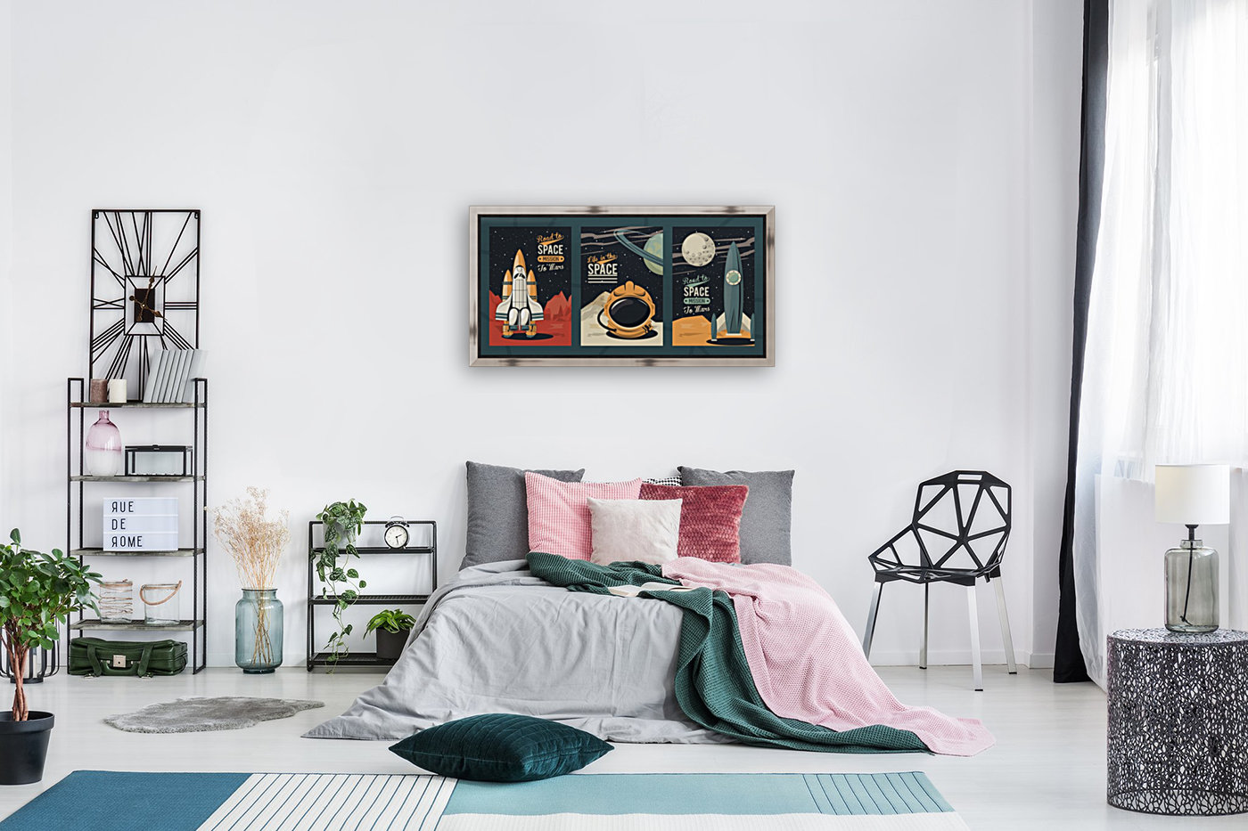 Life space poster with set scenes  Art