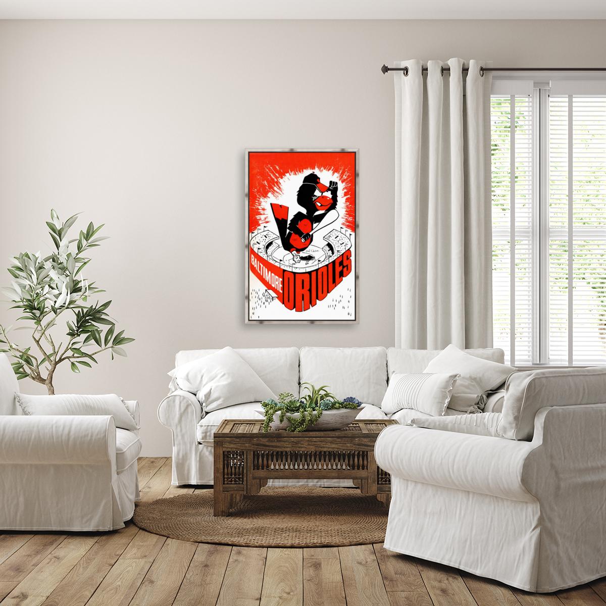 hal decker artist baltimore orioles poster  Art