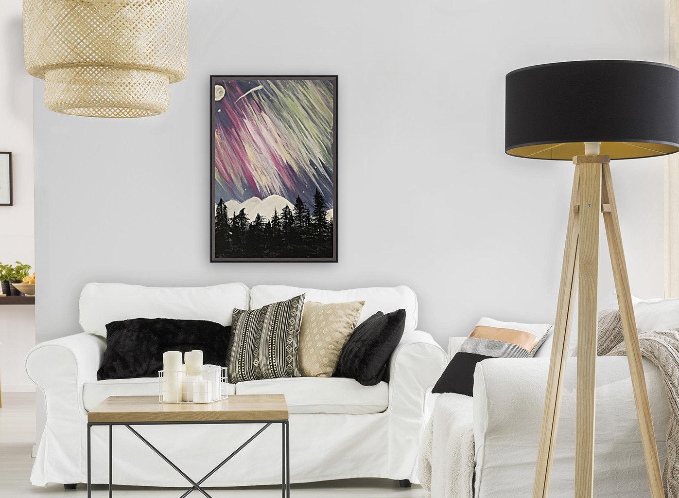 Aurora Borealis Above The Forest  Art