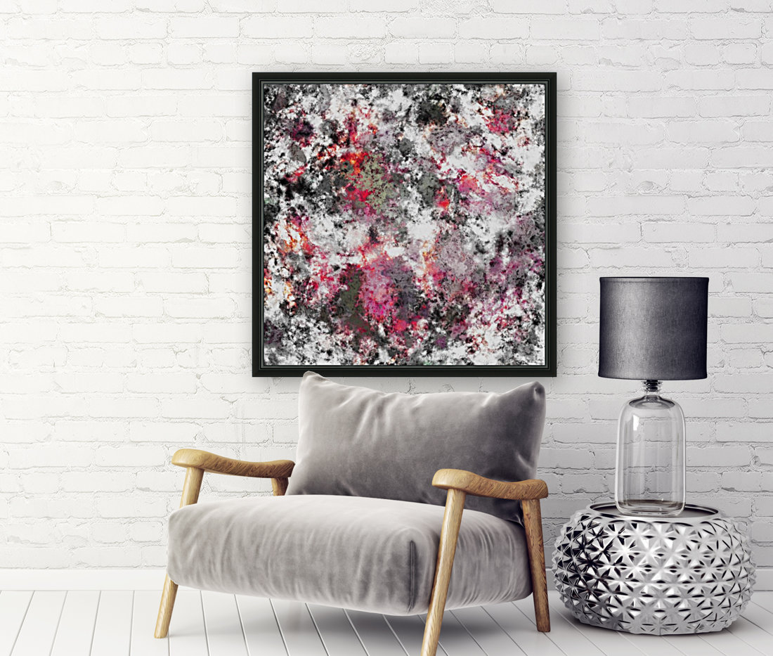 Frosty pink with Floating Frame