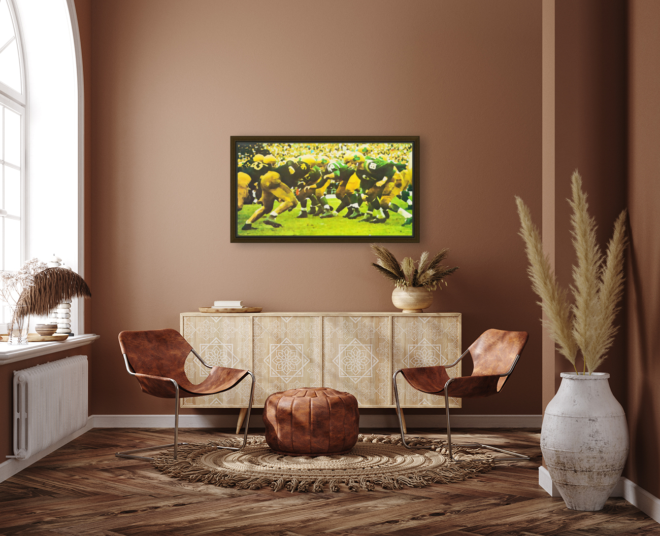 best notre dame football art with Floating Frame