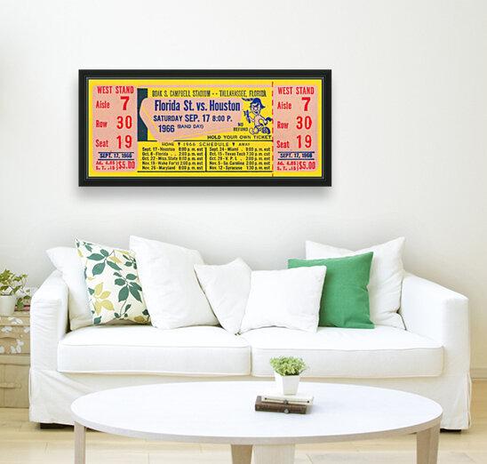 florida state seminoles ticket stub art  Art