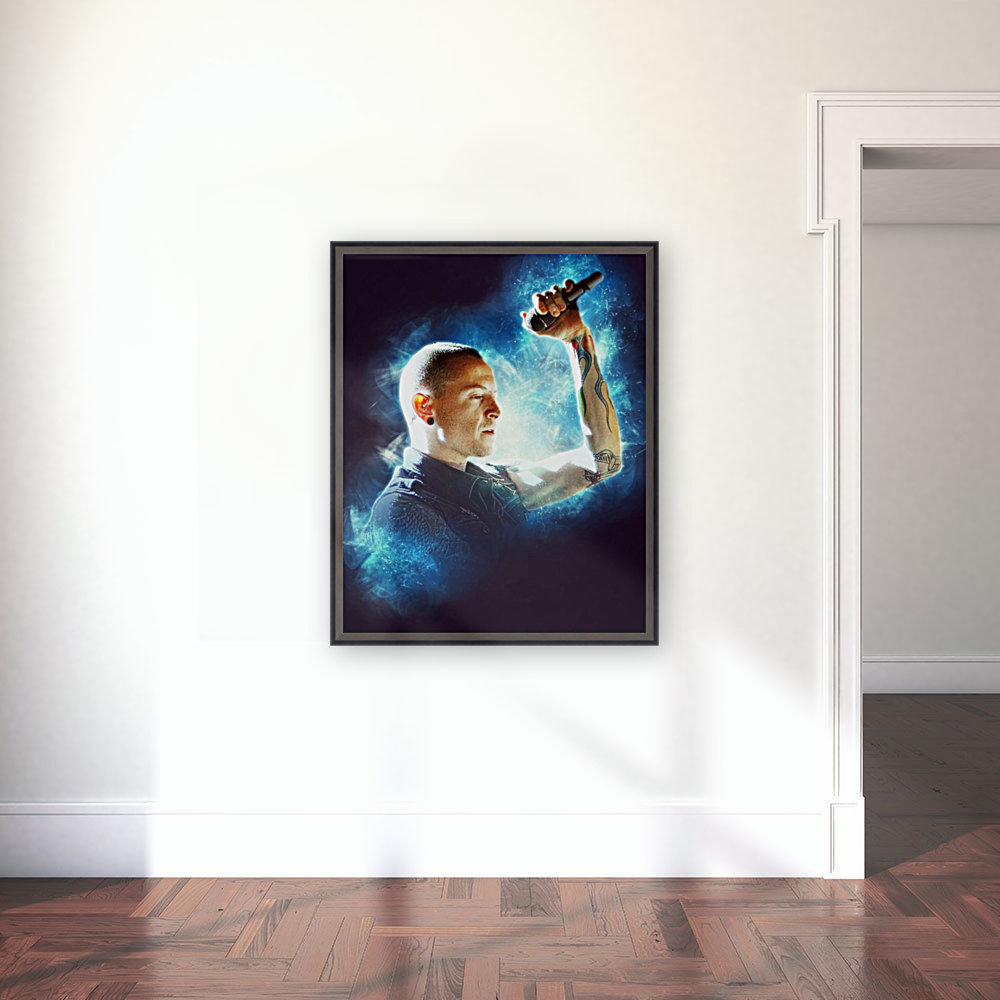 Chester Charles Bennington with Floating Frame