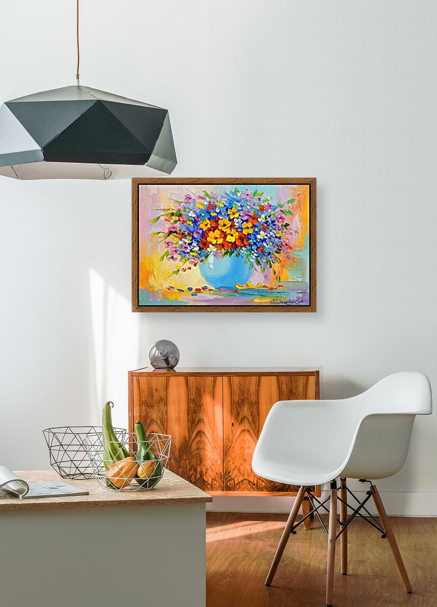 A bouquet of bright flowers  Art