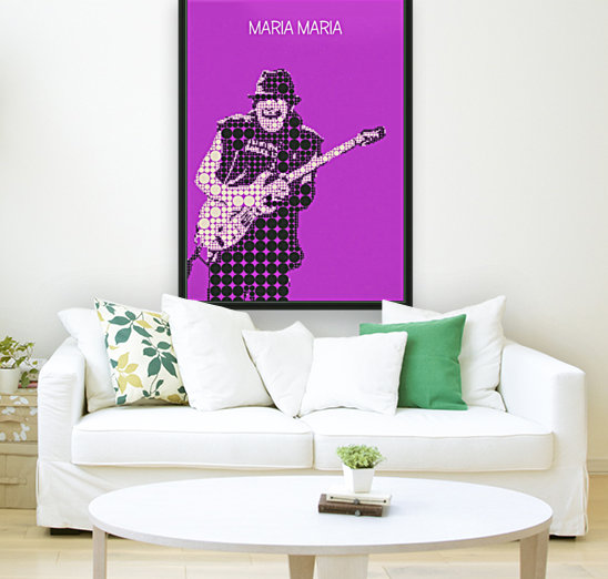 Maria Maria   Carlos Santana with Floating Frame