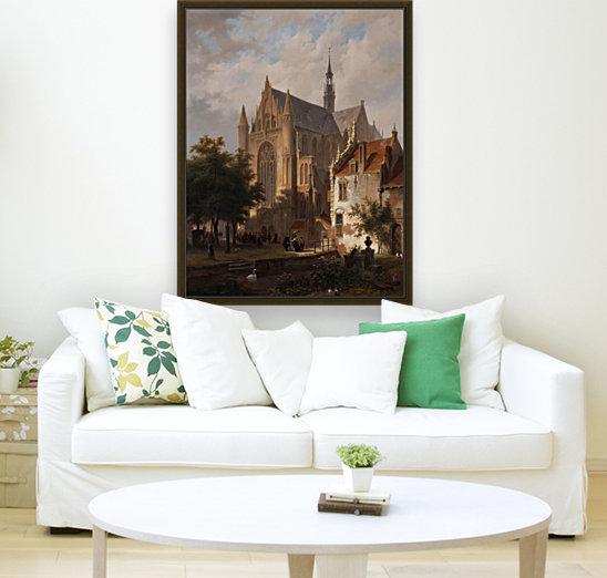 Het uitgaan van de kerk in Leiden  Art