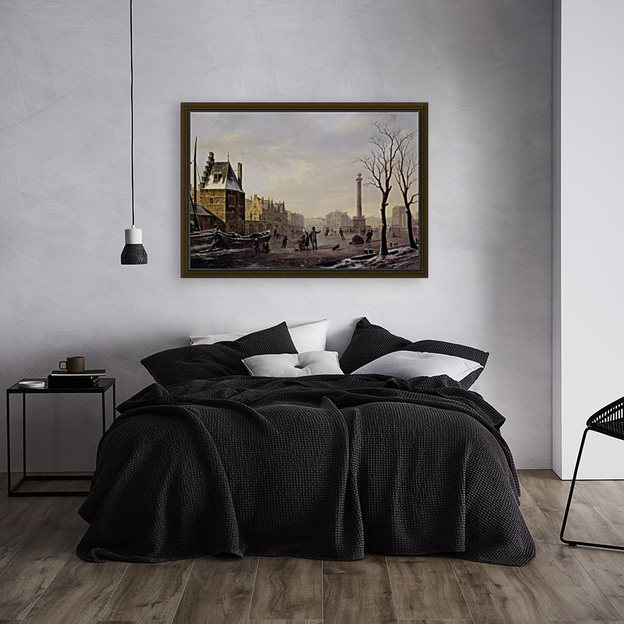 Pompenburg met Hofpoort in de winter  Art