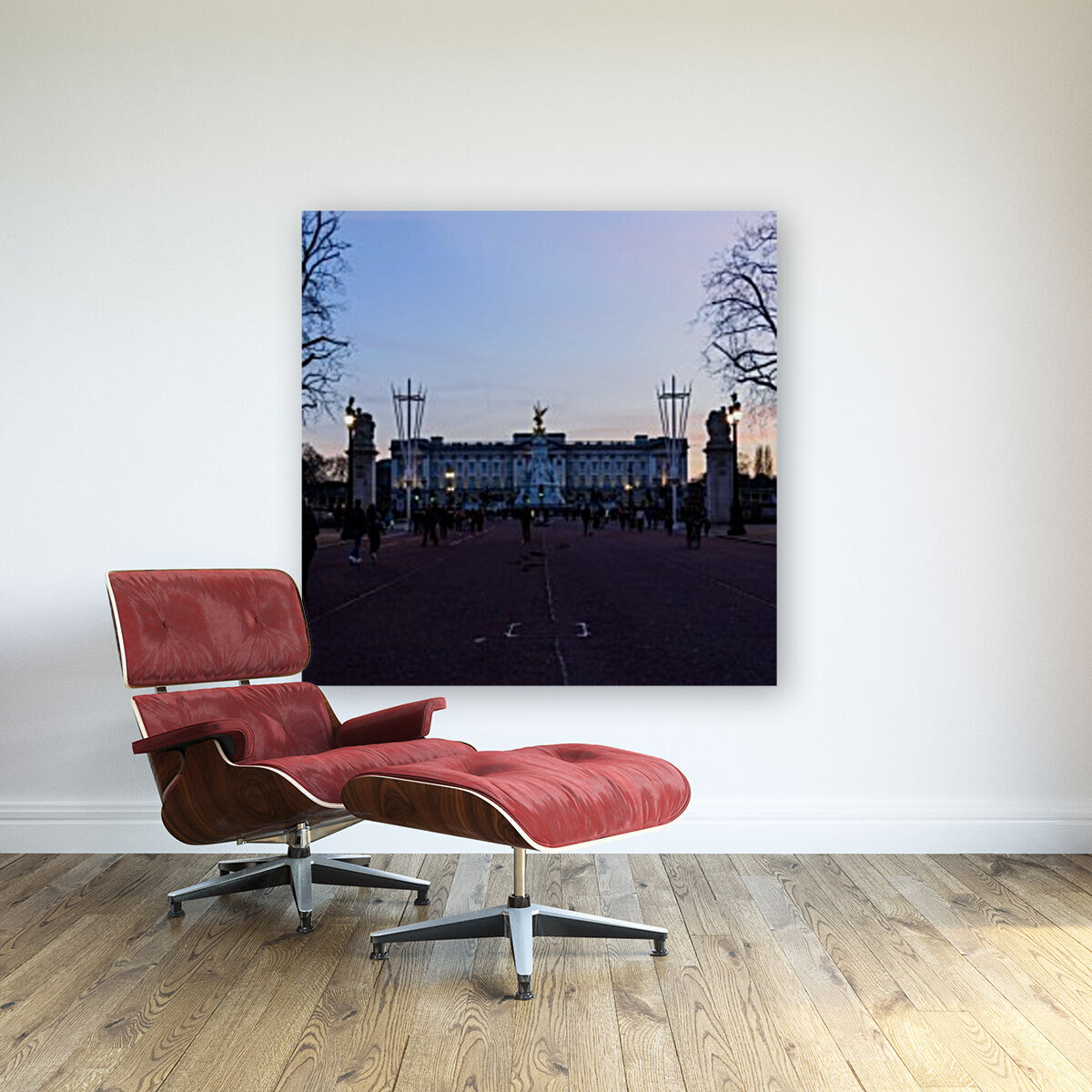 Dusk at Buckingham Palace London  Art