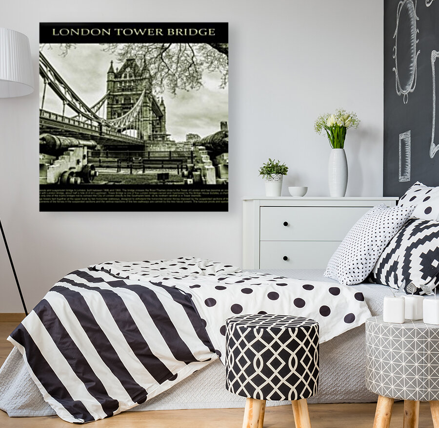 Vintage London Tower Bridge  Art