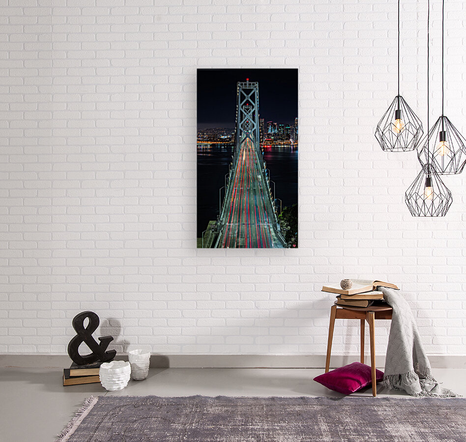 Oakland - San Francisco Bay Bridge at Night  Art