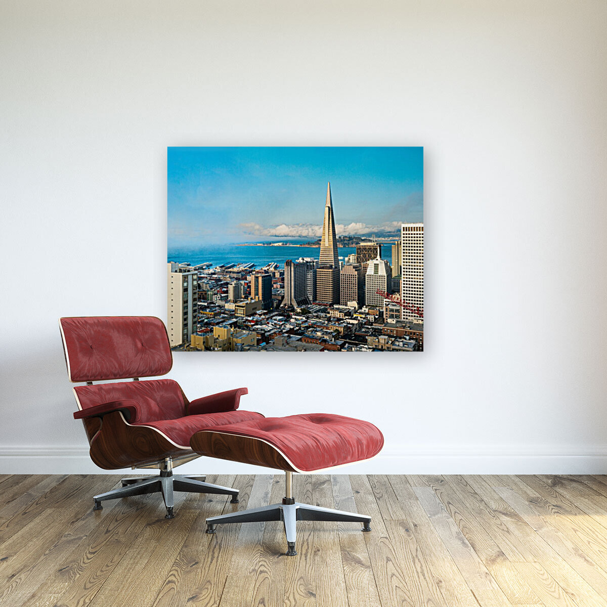 San Francisco Skyline with Floating Frame