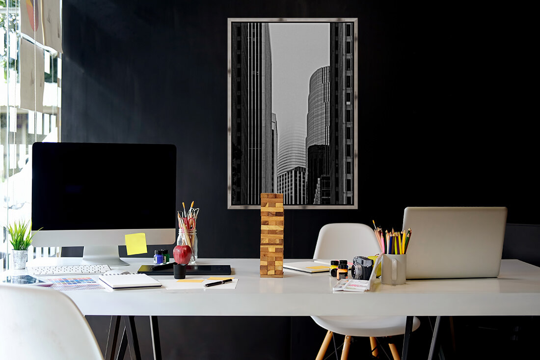 Vanishing Tower with Floating Frame