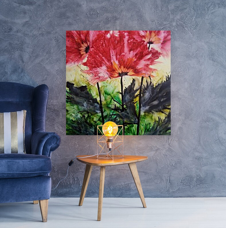Poppies Galore with Floating Frame