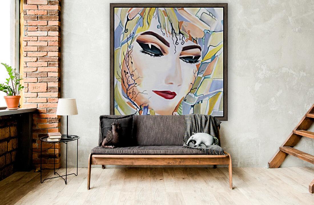 Chic Artistic Feminine Portrait  Art