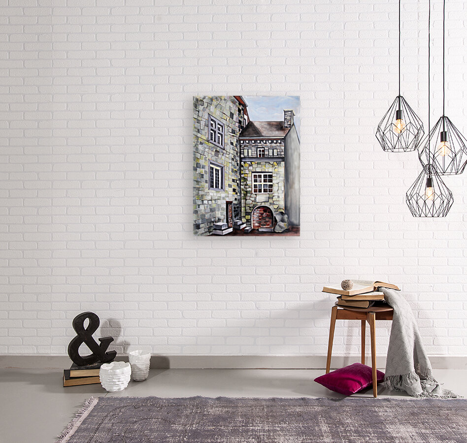 Liege Castle French Provenance  with Floating Frame