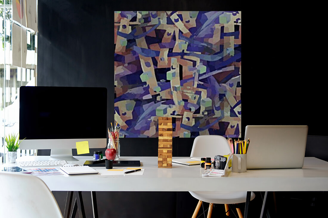Seamless Geometric Vivid Abstract  Art
