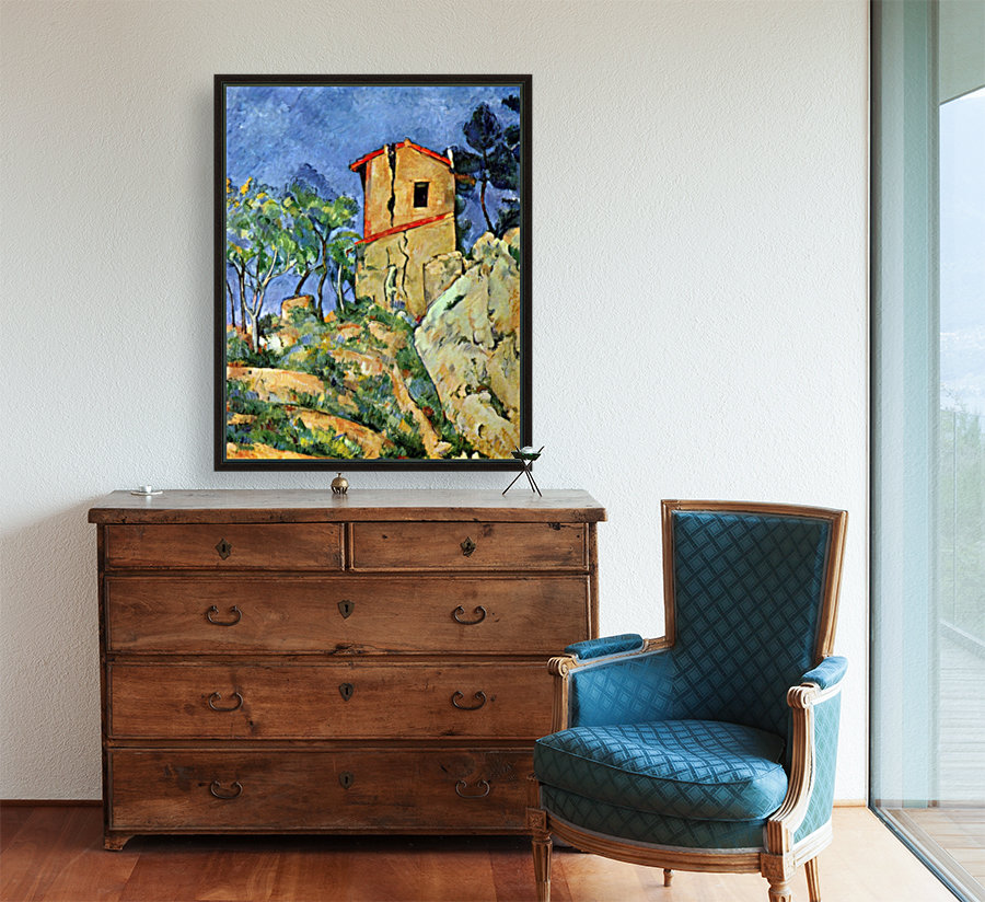 House with Walls by Cezanne  Art