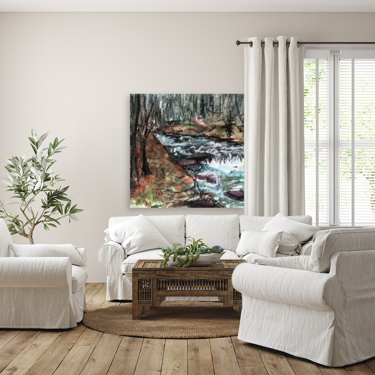 Gatlinburg Creek with Floating Frame