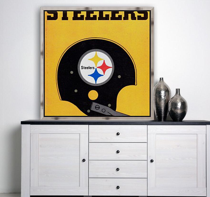 1968 Pittsburgh Steelers Helmet Art  Art