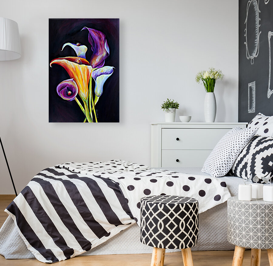 Calla Lilies in Blooming Bouquet  Art