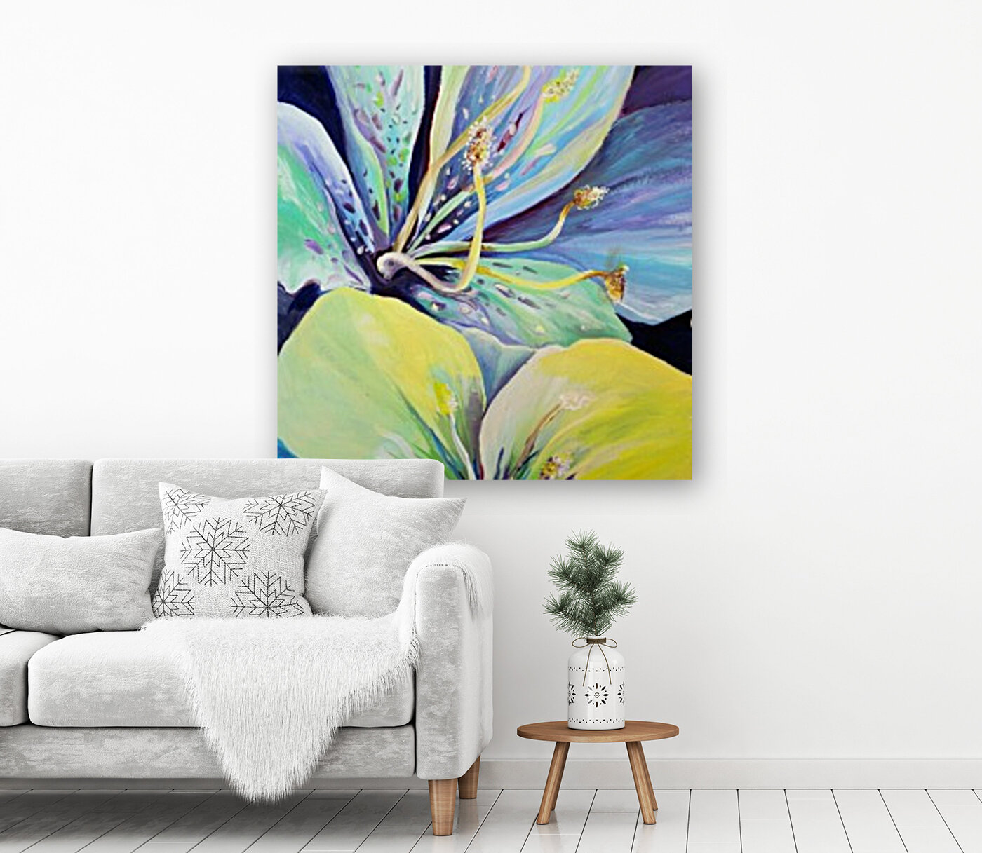 Blooming Flowers  with Floating Frame